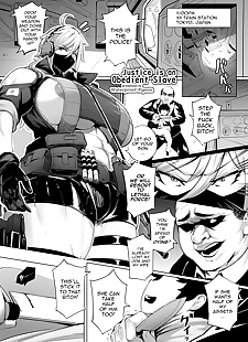 english manga Justice is an Obedient Slave, big breasts , muscle  business-suit
