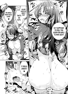 english manga Trans Sexual Mirror, big breasts , ahegao  sister